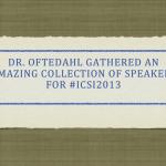 #ICSI2013 presentation